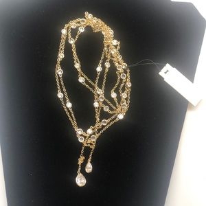 NWT long CZ necklace